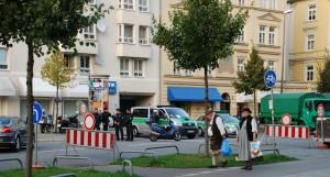 Straßensperre am Kontrollring